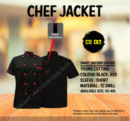 Black Jacket with Red Tipping (Young Cutting)-CU017