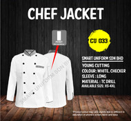 White Jacket with Checker(Young Cutting)-CU033