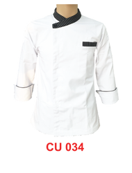 White Jacket with Stripe Without Buttons (Young Cutting)