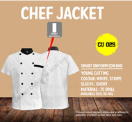 White Jacket with Stripe(Young Cutting)-CU025