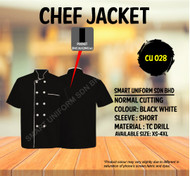 Black Jacket with White Piping(Normal Cutting)-CU028