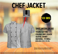Grey Jacket with Black Piping 2 Lines(Young Cutting)-CU020