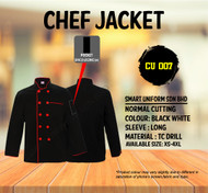 Black Jacket With Red Piping ( Normal Cutting )-CU007