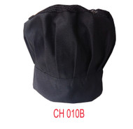 Chef Hat With Net Black