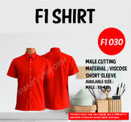 F1 Shirt Red Young Cutting (F1 030)