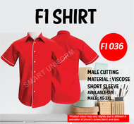 F1 Shirt Red Piping White (Young Cutting)
