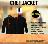 Black Jacket With Orange Piping ( Normal Cutting  )