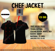 Black Jacket With Red White Piping ( Young Cutting )-CU019