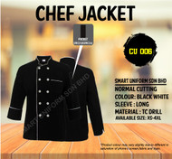 Black Jacket White Piping (Normal Cutting)-CU006