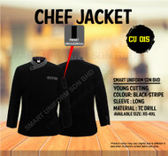 Black Jacket With Small Stripe ( Young Cutting  )