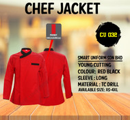Red Jacket With Black Piping ( Young Cutting)-CU032