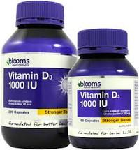 Blooms Vitamin D3 1000IU capsules