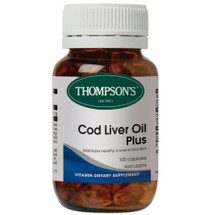 Thompsons Cod Liver Oil Plus - 100 Capsules