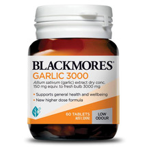 Blackmores Garlic 3000 - 60 Tablets  low odour