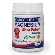 Cabot Health MAGNESIUM Ultra Potent - Powder Citrus 200g