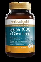Herbs of Gold Lysine 1000 + Olive Leaf  - 100 Tablets