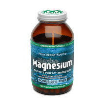 Hawaiian Pacifica Spirulina - Marine Magnesium 120 Vegetable Capsules - Green Nutritionals