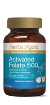 Herbs of Gold Activated Folate 500 - 60 Capsules