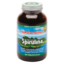 MicrOrganics Green Nutritionals Hawaiian Pacifica Spirulina 500mg - 200 Tablets