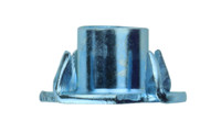 """1/4""""-20 x 7/16"""" 4 Prong Tee Nut, Low Carbon Steel, Zinc Clear (Package of 250)"""