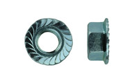 """5/8""""-18 UNS  Serrated Flange Nut, Low Carbon Steel, Zinc (Package of 50)"""