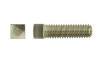"""1/2""""-13 x 2-1/2"""" Square Head Set Screw, Cup Point 18-8 Stainless Steel - FT (Box of 350)"""