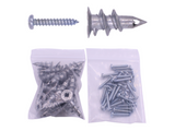 "9/16"" x 1-1/4"" EZ Anchor Zinc Die Cast - with Screws (30 Pack)"