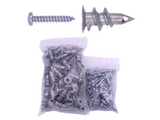 "9/16"" x 1-1/4"" EZ Anchor Zinc Die Cast - with Screws (100 Pack)"
