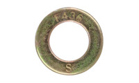"1 1/8"" F436 Structural Flat Washer, Zinc Yellow"