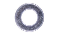 #6 SAE Flat Washer, Low Carbon Steel, Zinc Clear