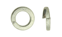 "1"" Regular Split Lock Washer, Low Carbon Steel, Hot Dipped Galvanized"