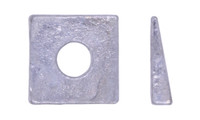 """3/8"""" Square Beveled Washer, Malleable Iron, Hot Dipped Galvanized"""