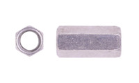 """1/4""""-20 x W3/8"""" x L7/8"""" Coupling Nut , 18-8 Stainless Steel, Plain (20 Pack)"""