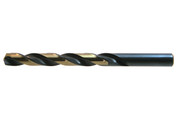 0.80 mm HD Jobber Drill Bit, HSS, Black & Gold (Package of 12)