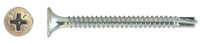 "#6 x 1-5/8"" Self-Drilling Drywall Screw, Bugle Phillips, Zinc (Package of 100)"