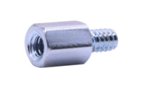 """#10-32 x 1-1/4"""", 3/8"""" Male/Female Hex Standoff, 303 Stainless Steel (Box of 100)"""