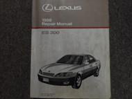 1998 LEXUS ES300 ES 300 Service Shop Repair Manual FACTORY DEALERSHIP BOOK NEW x