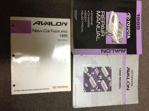 1995 Toyota Avalon Models Service Repair Shop Manual Set W