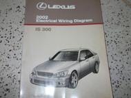 2002 Lexus IS300 IS 300 Electrical Wiring Diagram Service Shop Repair Manual x