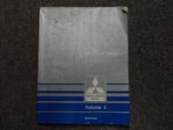 1991 MITSUBISHI ECLIPSE Service Repair Manual Volume 2 All Wheel Drive AWD WORN