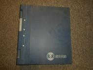 1994- Saab 900 Technical Data Diagnosis Fault Tracing Service Repair Manual OEM