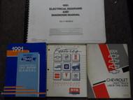 1991 Chevrolet Truck RV P Light Duty Truck Unit Service Repair Manual SET DAMAGE