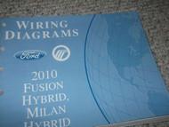 2010 FORD FUSION & MILAN HYBRID Electrical Wiring Diagram Service Manual EWD