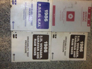 1986 Dodge RAM VAN WAGON RWD Service Shop Repair Manual SET W DIAGNOSTICS OEM