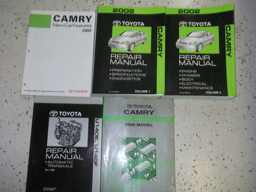 2002 Toyota Camry Service Shop Repair Manual Set Factory