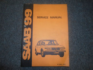 1969 72 73 1974 Saab 99 Service Repair Manual FACTORY OEM BOOK WATER DAMAGE