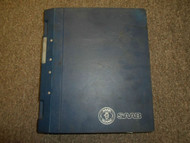 1985 1997 Saab 9000 Technical Information News Service Manual WATER DAMAGE OEM