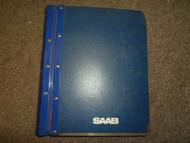 1986 88 Saab 9000 Electrical System Instrument Comprehensive Wiring Manual OEM