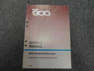 1986 SAAB 900 B202i 16 Valve Injection Engine Supplement Service Repair Manual