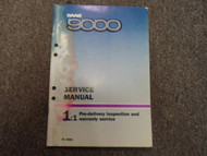 1988 Saab 9000 1:1 Pre Delivery Inspection Warranty Service Manual WATER DAMAGE